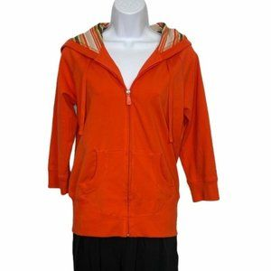 Alo Yoga Activewear Full Zip Hoodie Tangerine coat